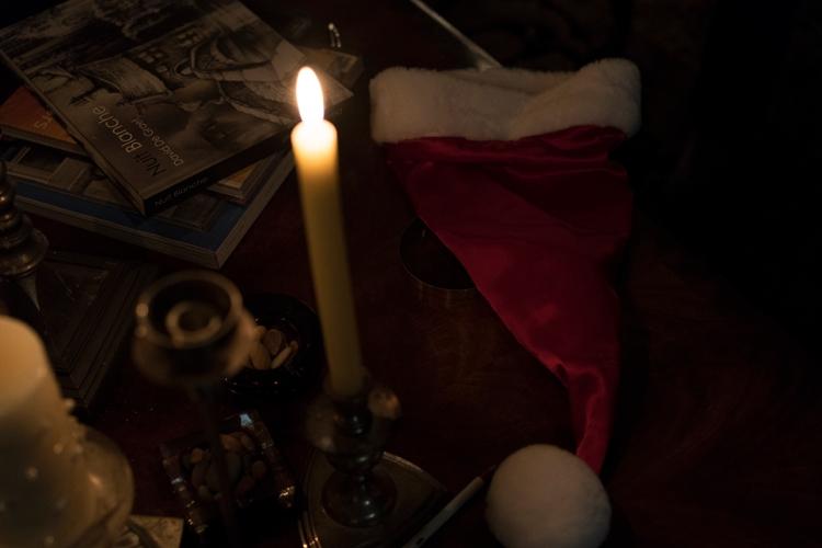 christmascandlelightsantahat