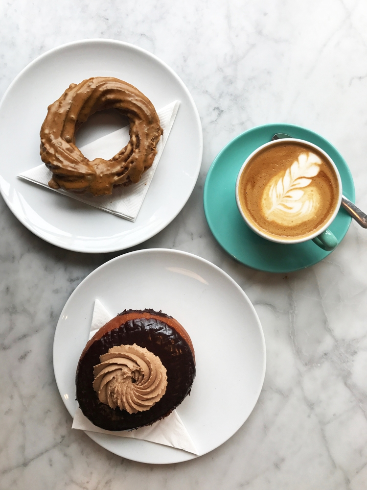 49th Parallel Coffee and Lucky Donuts Vancouver