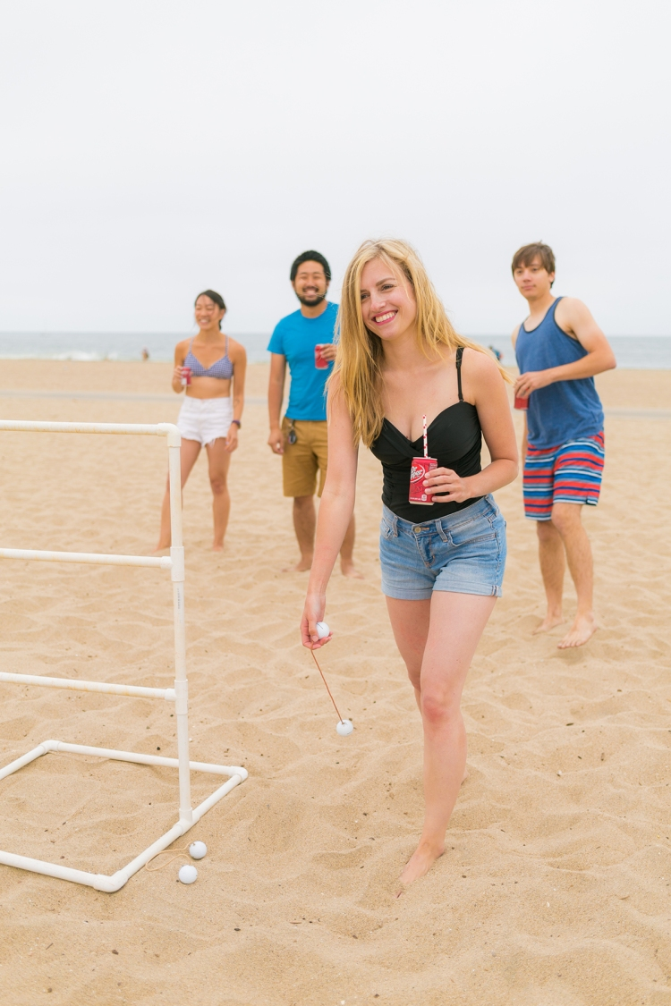 Beach Games with Dr Pepper