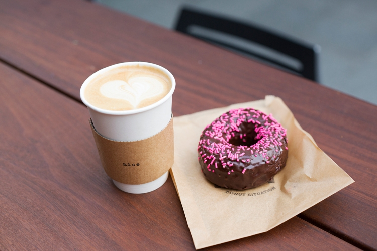 Nice Coffee and Hot Fat Donuts Downtown Los Angeles