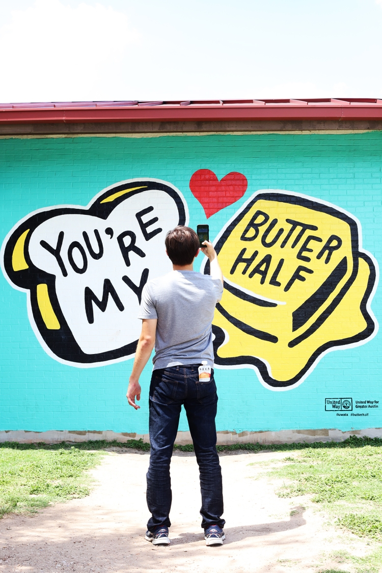 You're My Butter Half Austin Texas Mural