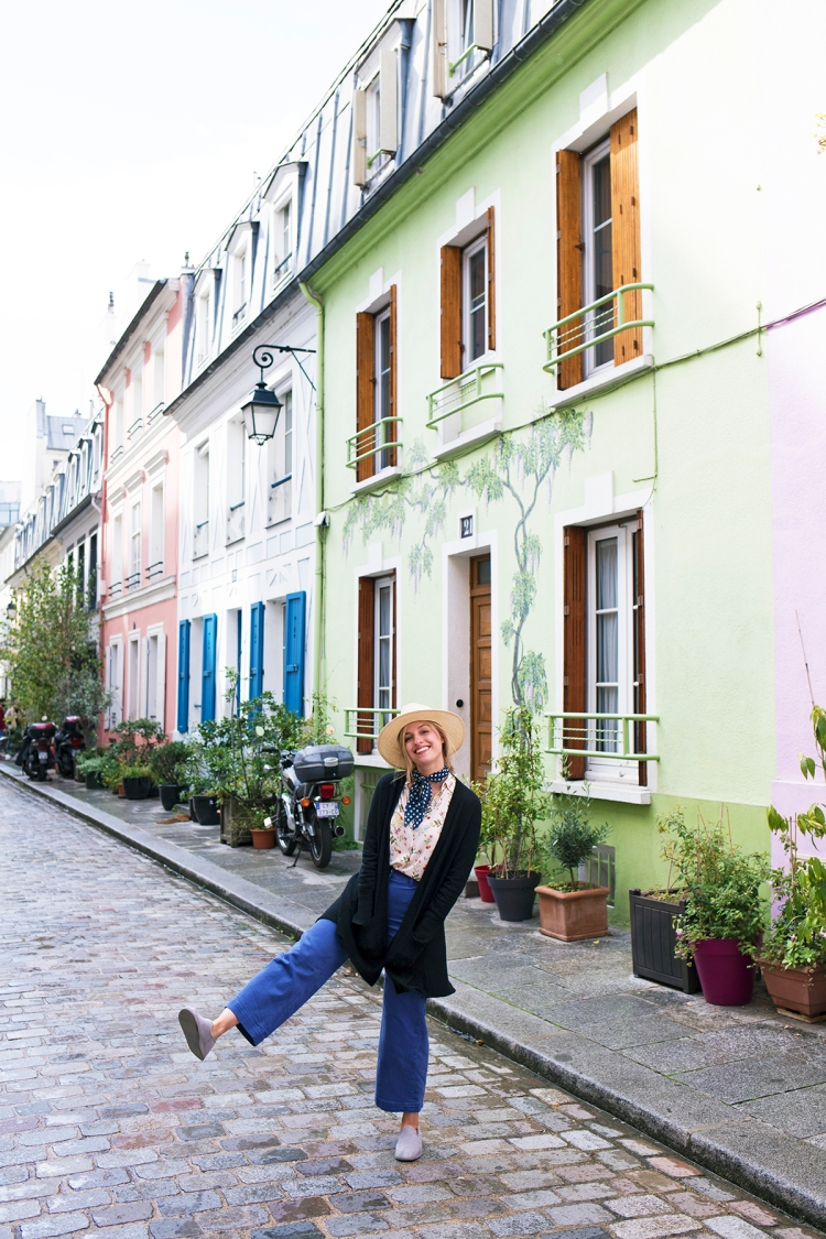 Rue Cremieux Colorful Street in Paris