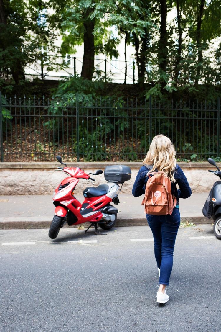 Streets of Montmartre Vespa