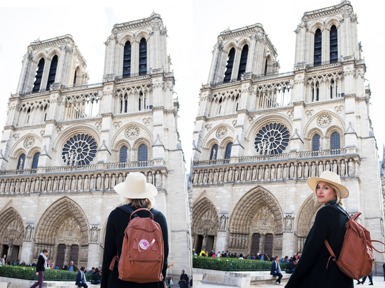 Visiting Notre Dame in Paris
